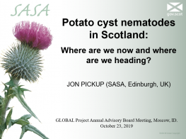 Potato cyst nematodes in Scotland: Where are we now and where are we heading?